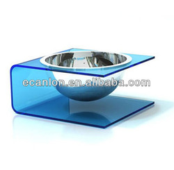 acrylic pet/dog/cat dinning bowl with two position