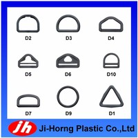 Plastic D and triangle ring belt webbing buckle for bag accessories