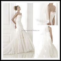 Strapless Mermaid Appliqued new model wedding dresses FXL-340