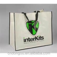 China reusable pp non woven shopping bag with zipper, cheap folding shopping bag customized