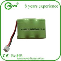 rechargeable ni-mh 3.6v 2/3aa 600mah battery