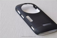 Black Anti-slip Rubberized Slide Case For Samsung Galaxy K S5 zoom C115 with Swivel Belt Clip Holster Stand