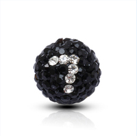 Crystal lucky number 7 charm, good luck 10 mm charm wholesale