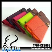 card slots magnetic closure folio cover leather case for lenovo a3000