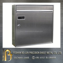 china supplier client-orientated customized cast aluminum mailbox , letter box