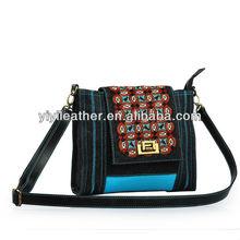 2114-2013 Original designer denim bags, denim shoulder bag, denim messenger bag
