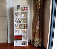 Moda estilo de plástico prateleiras de madeira prateleira de armazenamento canto decorativo