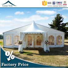 15mx20m Large clear roof wedding tent with best decoration