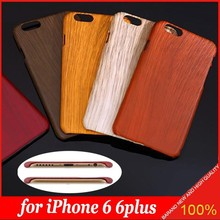 Classic Retro Wood Grain Bamboo Style PC Hard Case for iPhone 5S 6 6plus