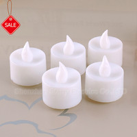hot sale Battery operated flickery flameless plastic LED tealight candle light