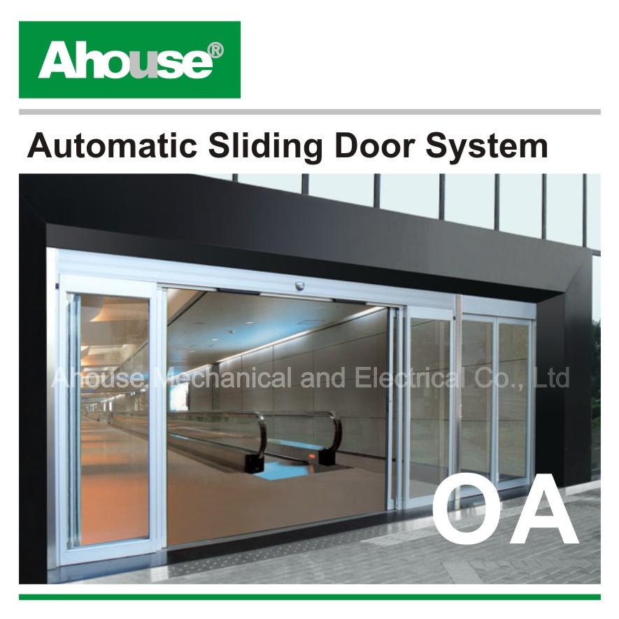 Automatic glass door operator sliding opener view
