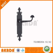Egypt Black Iron Plate Zinc Handle Door Handle