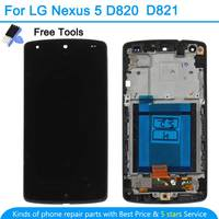 For LG Google Nexus 5 D820 D821 Original LCD Display Touch Screen Digitizer With Bezel Frame Black