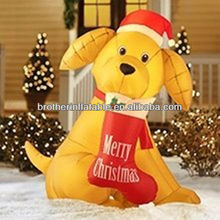 Outdoor Decoration airblown christmas inflatable dog