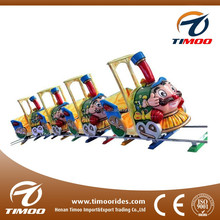 Wholesale cheap price santa cartoon track train kids shopping toy train for malls