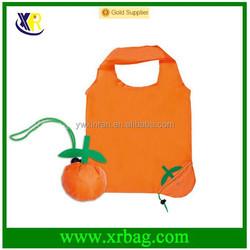 Promotional orange shaped folding shopping bag