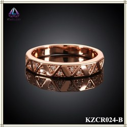 Fancy Gold Ring Designs Thin Crystal Ring