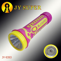 JY SUPER flashlight Rechargeable led plastic orkia torch jy9393