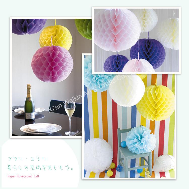 Tissue craft paper ball flowers pom poms buy craft paper ball honeycomb lantern2g mightylinksfo