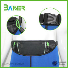 Outdoor running bicycle Neoprene Sport waterproof custom waist bag