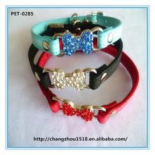 Crystal rhinestone bone dog collar