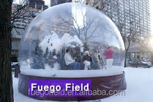 large inflatable christmas snow dome/christams snow globe/clear christmas outdoor decoration