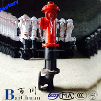Outdoor landing fire hydrant, portable fire hydrant with fire hydrant chain