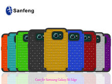 Deluxe Phone Cover for Samsung S6 Edge with Diamond Tons of Colors Available