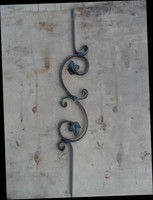 Wrought Iron Circle Scroll Baluster