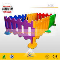 (WD- Fence) Colorful Plastic fencing for mall /PE fencing for amusement park /small plastic fence can protect kids