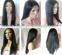 cheap price Brazilian Virgin hair Silky Straight Swiss Lace Full Lace Wigs