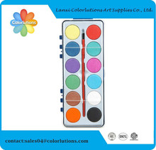 2015 colorlutions non toxic water color cake paint