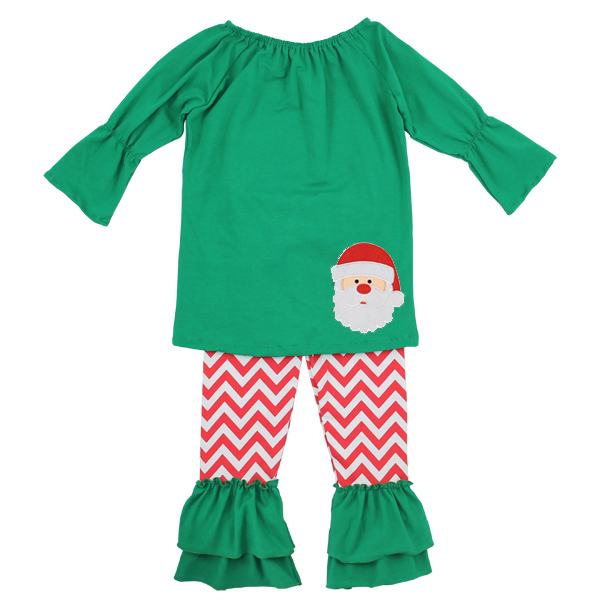 Girls christmas outfits baby kids newborn smocked children s chevron