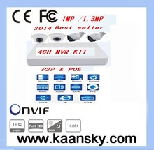 2014 New product video surveillance kits ,support p2p & POE NVR KIT 4ch