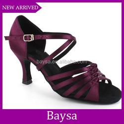 Lastest fashion newest design dance shoes women professional latin dance shoes BD073