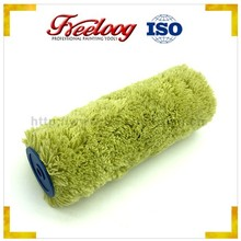 Economy Euro-style green paint roller, durable wall roller brush for latex painting