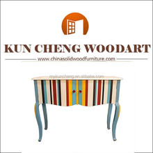 colorized European wooden furniture laptop desk office /home desk wood computer table