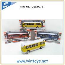 lighting open door pull back toy buses diecast scale model bus