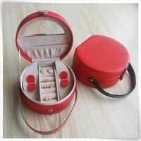 Unique handmade luxury pu leather display custom jewelry display case,travel jewelry case