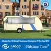 FV-78 New model restaurant van fiberglass caravan trailer vans manufacturing