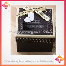 Noble brown with white dot with PVC window multipurpose box