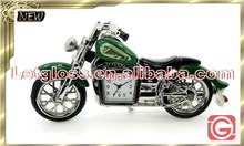 Mini zinc alloy Motorcycle shaped modern clock