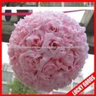 rosa rosa artificial bola, pendurado bola flor para decoração de casamento