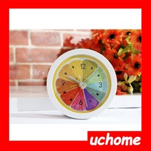 UCHOME Refreshing lemon fruit alarm clock mini bedroom study desk clock watch clock lazy