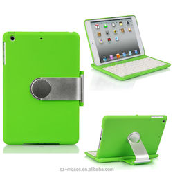 Hot Selling Bluetooth Keyboard Case For mini iPad with Stand and 360 Degree Rotating