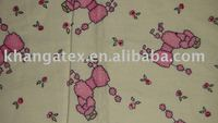 Children flannel clothes or sleeping clothes fabrics with cartoon designs