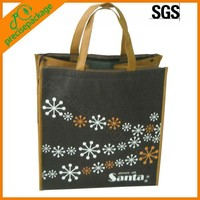 Tote style outdoor shopping non woven ice cooler bag