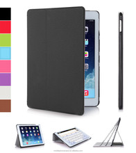 2015 Ultra thin folio stand PU leather case for ipad air 2