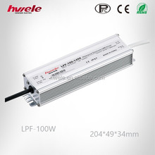 LPF-100W waterproof LED driver with PFC function passed SGS,CE,ROHS,TUV,KC,CCC certification