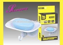 Jabón de plástico con titular de la taza de succión& de jabón de plástico para los titulares de las duchas